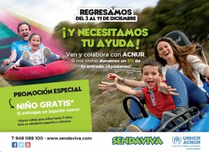 Sendaviva colabora con ACNUR