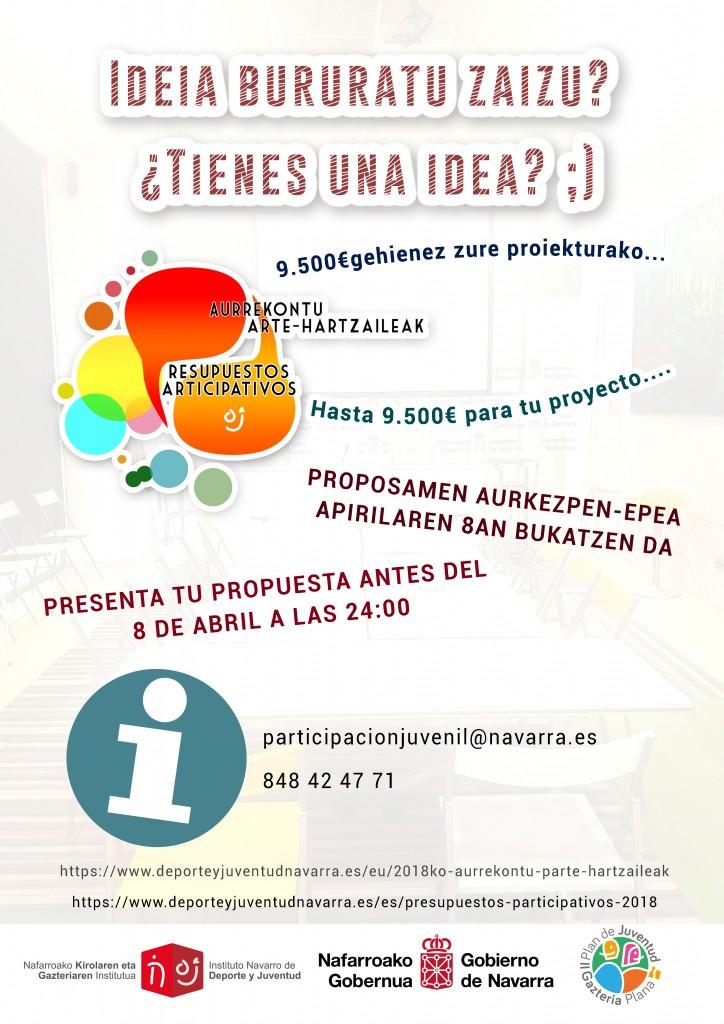 cartel presupuestos participativos 2018