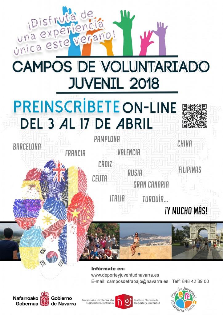 cartel campos de voluntariado 2018
